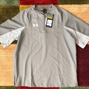 Under Armor Dry Fit Half Zip Baseball Shirt